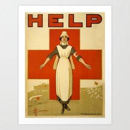 Vintage poster - Red Cross Art Print