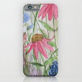 Garden Flower Wildflower Watercolor iPhone Case