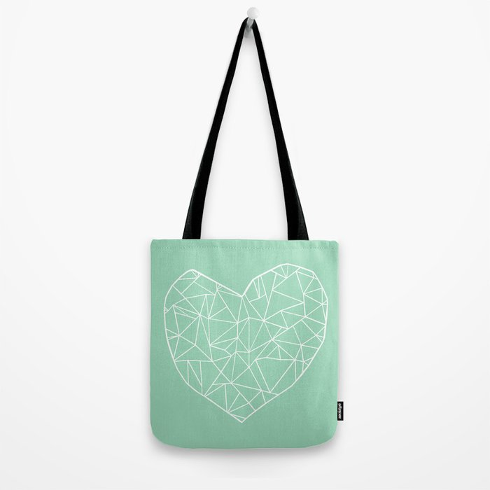 Abstract Heart Mint Tote Bag