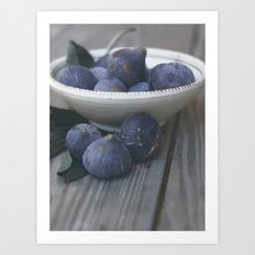 Fig Dish - Still Life - fine art Photography, hasselblad, macro photo n° 1 Art Print
