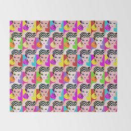 Pop Art Barbie Throw Blanket