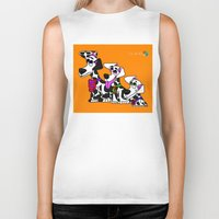puppies Biker Tanks featuring Dalmatian Puppies by Chip Dar Juan
