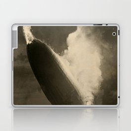 The Hindenburg hits the ground in flames in Lakehurst, N.J. Laptop & iPad Skin
