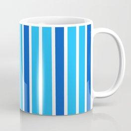 Blue, Navy & White Stripes Coffee Mug