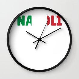 Napoli Italy flag holiday gift Wall Clock