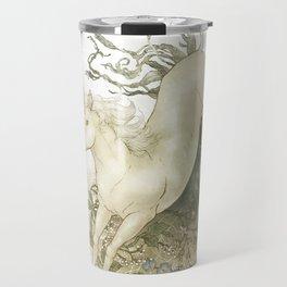 Unicorn and Silver Travel Mug