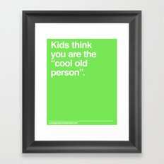 Cool Old Person Framed Art Print
