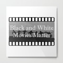 Black and White Movies Metal Print