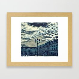 Place paris estampe Framed Art Print