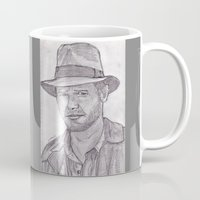 indiana jones Mugs featuring Indiana by jamestomgray