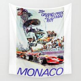 Gran Prix de Monaco, 1971, original vintage poster Wall Tapestry