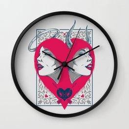 Saint or Sinner Wall Clock