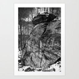 A view of the rocks Art Print