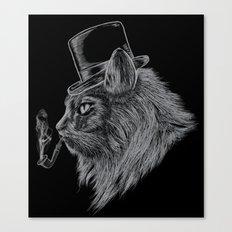 High Class Cat Canvas Print