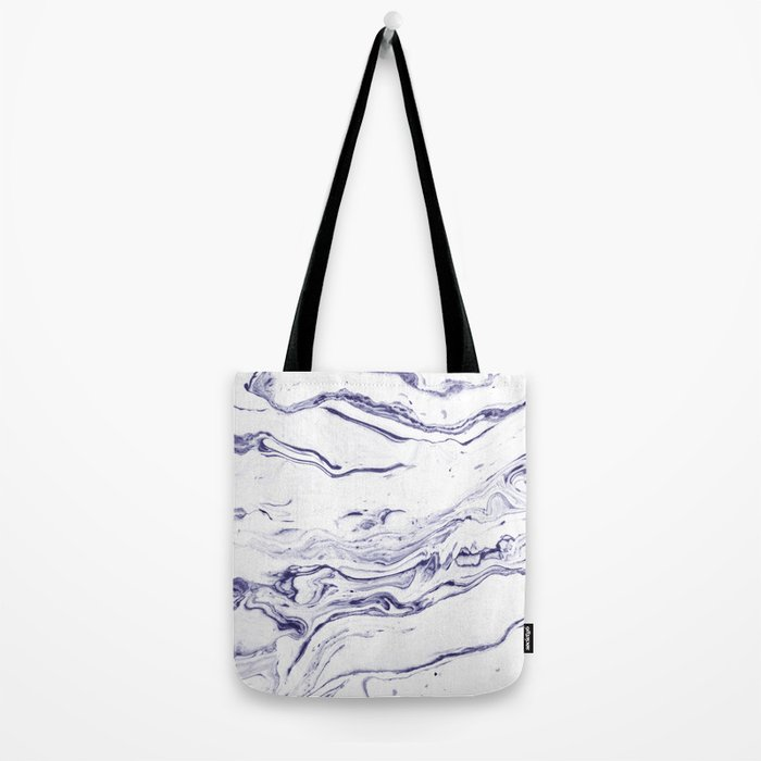 Navy Blue Marble #society6 #decor #marble Tote Bag