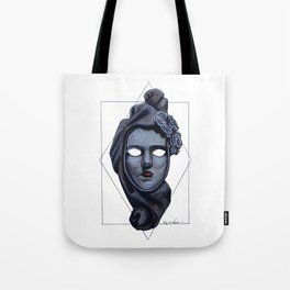 Female Venetian Mask | Watercolor and Colored Pencil  Tote Bag