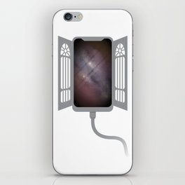 Gate to infinity - gray iPhone Skin