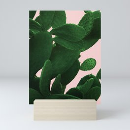 Cactus On Pink Mini Art Print