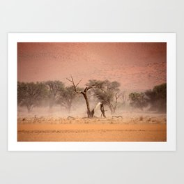 NAMIBIA ... through the storm I Art Print