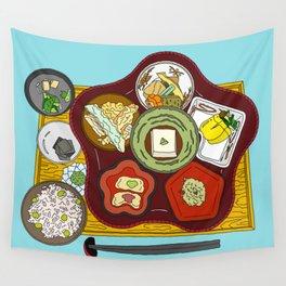 Japanese Veggie Platter Wall Tapestry