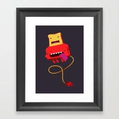 Red Toast Framed Art Print