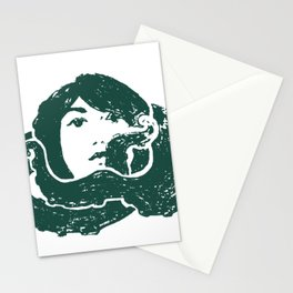 octopus girl Stationery Cards