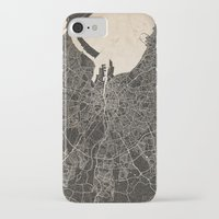 dublin iPhone & iPod Cases featuring dublin map by NJ-Illustrations