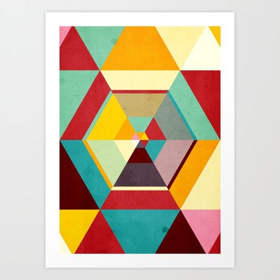 Color Mess Art Print