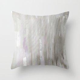 Lavender & Silver Throw Pillow