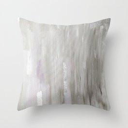 Lavender & Silver Throw Pillow