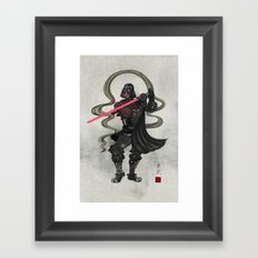 Darth Samurai Framed Art Print