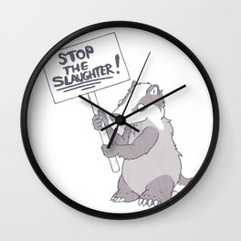 BADGER CULL PROTEST Wall Clock