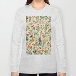 Wildflower Diagram // Fleurs II by Adolphe Millot XL 19th Century Science Textbook Artwork Long Sleeve T-shirt