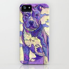 Rainbow Blue Nose Pitbull iPhone Case