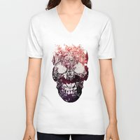 murray V-neck T-shirts featuring SKULL by Ali GULEC
