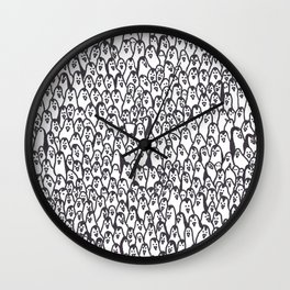 Lots of penguins Wall Clock