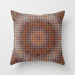 Wooden Circular Wood Weave Pattern Throw Pillow