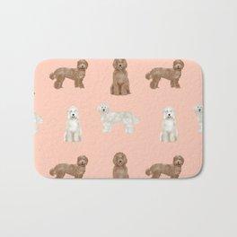 Labradoodle dog breed pet pattern labradoodles Bath Mat
