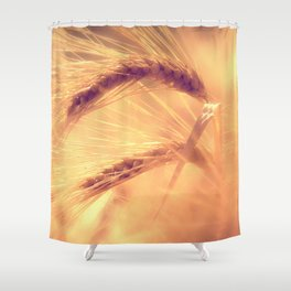 Summer romance in the grain field Shower Curtain