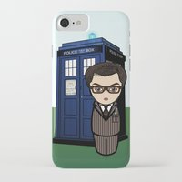dr who iPhone & iPod Cases featuring Kokeshi Dr. Who by Pendientera