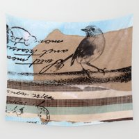 birdy Wall Tapestries featuring Birdy by zAcheR-fineT