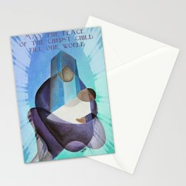 May The Peace Of The Christ Child Fill Our World  Stationery Cards