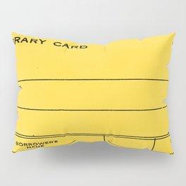 Library Card BSS 28 Yellow Pillow Sham