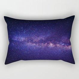 Purple Glitter Star Galaxy Rectangular Pillow