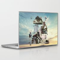 house Laptop & iPad Skins featuring house by Кaterina Кalinich
