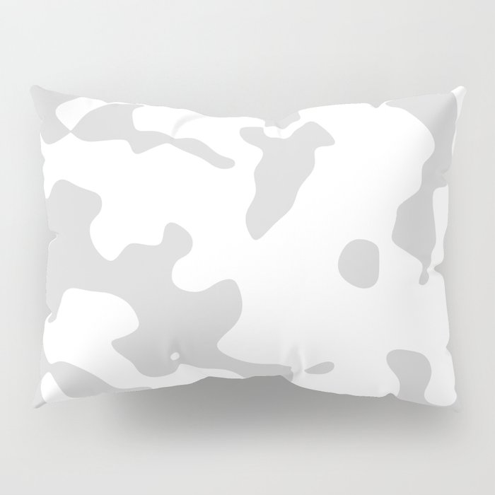 Large Spots - White and Light Gray Pillow Sham