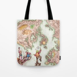 Map of Mutha Oith Tote Bag