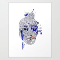 popart Art Prints featuring PopArt by Ina Spasova puzzle