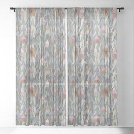 Flowering eucalyptus, australian flora Sheer Curtain