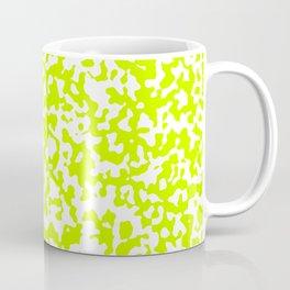 Small Spots - White and Fluorescent Yellow Coffee Mug